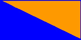 Orange/bleu