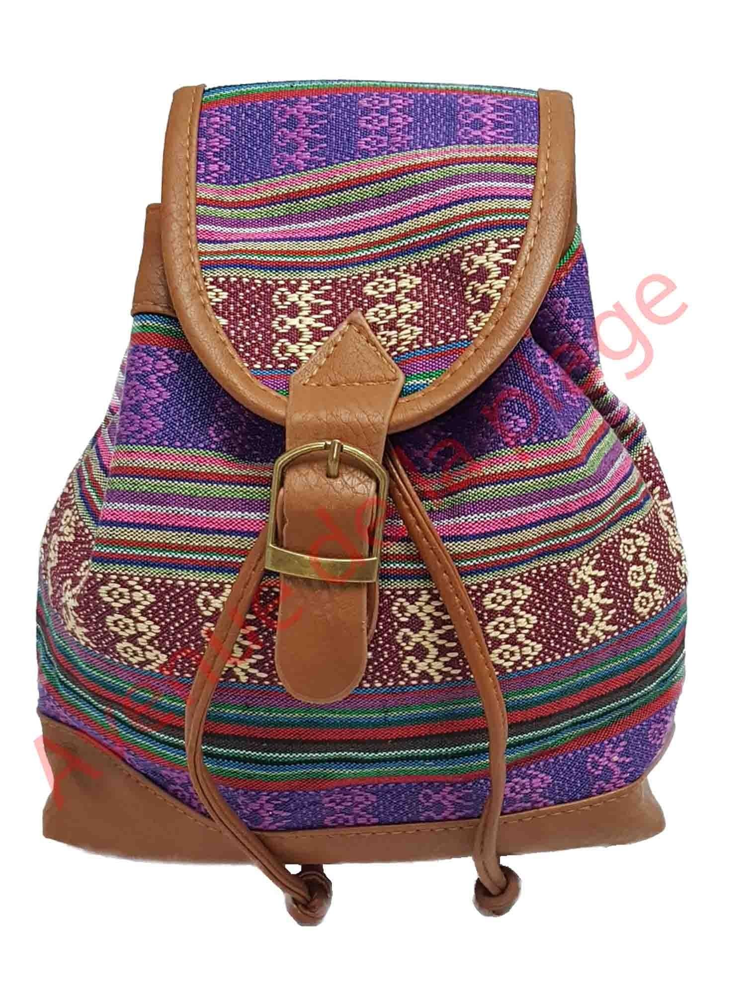 Mini sac à dos Maya violet pour femme|sacs à dos pas cher