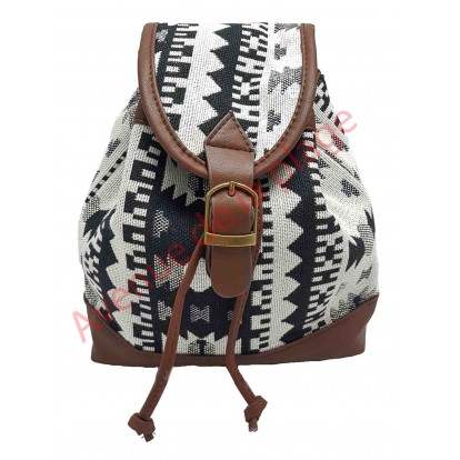 Mini sac à dos Maya noir et blanc