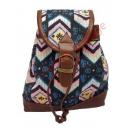 Mini sac à dos Maya rose et noir