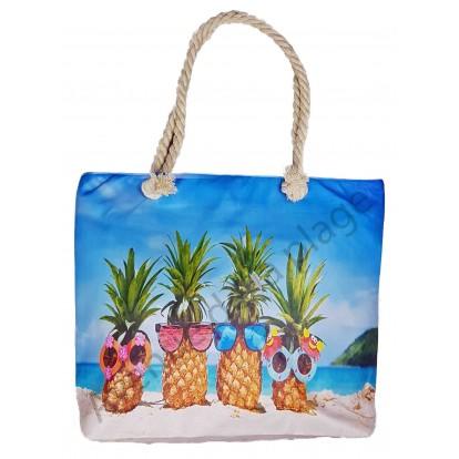 Sac de plage Ananas sur le sable