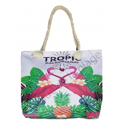 Sac de plage couple de Flamants roses