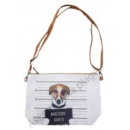 Sac à main pochette Bad dog Jack Russel