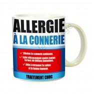 """Mug médicament """"Allergie à la connerie"""""""