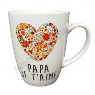 Mug coeur Je t'aime Papa