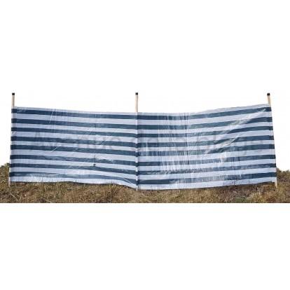 Paravent de plage bleu marine et blanc 300 x 90 cm