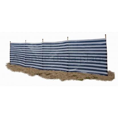 Paravent de plage bleu marine et blanc 500 x 120 cm