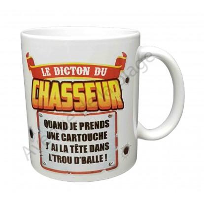 """Mug cadeau """"Le dicton du chasseur"""""""
