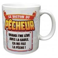 """Mug cadeau """"Le dicton du pêcheur"""""""