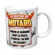 "Mug cadeau ""Le dicton du Motard"""