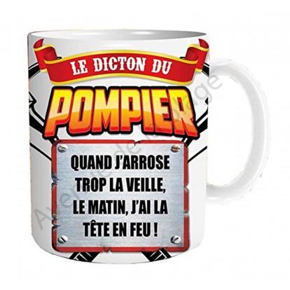 """Mug cadeau """"Le dicton du Pompier"""""""