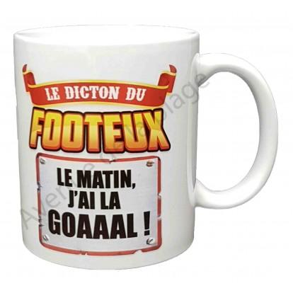 """Mug cadeau """"Le dicton du Footeux"""""""