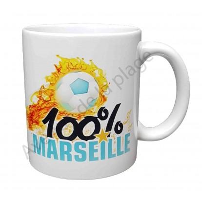 "Mug cadeau ""100% Marseille"""