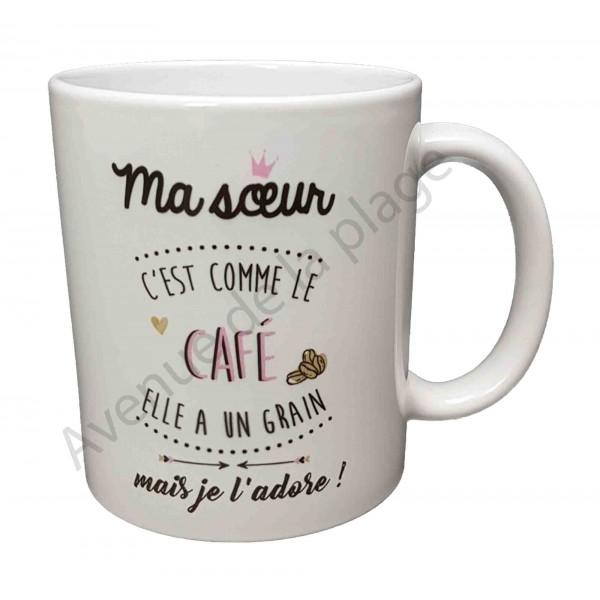 mug cadeau ma soeur c 39 est comme le caf cadeau pas cher. Black Bedroom Furniture Sets. Home Design Ideas