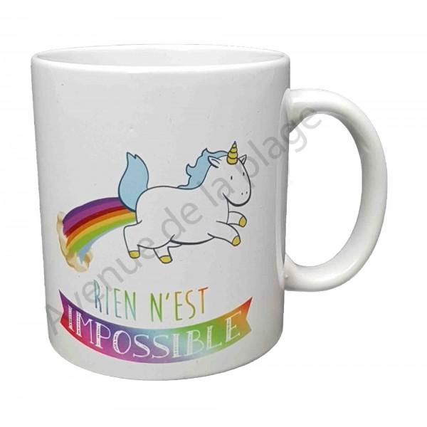 Mug Licorne Pas Cher : mug cadeau licorne rien n 39 est impossible tasse licorne ~ Teatrodelosmanantiales.com Idées de Décoration