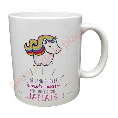 Mug cadeau Licorne et saute-mouton