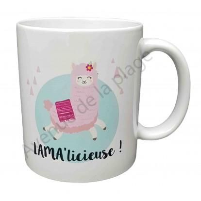 "Mug cadeau ""Lama'licieuse !"""