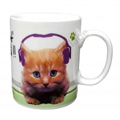 """Mug chat """"Chat' réveil !"""""""