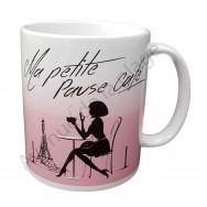 """Mug humoristique """"Ma petite pause café"""""""