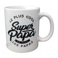 "Mug cadeau ""Super Papa le plus cool"""