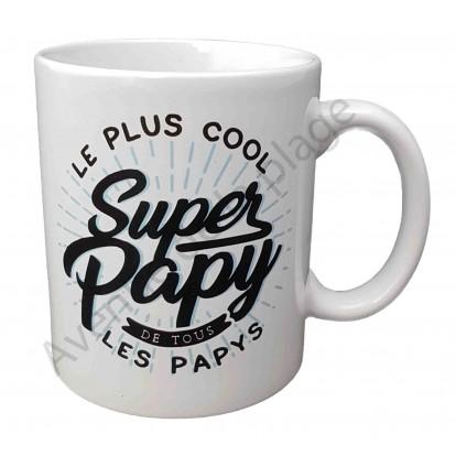 """Mug cadeau """"Super Papy le plus cool"""""""