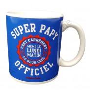"Mug humoristique ""Super Papy Officiel"""