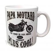 "Mug humoristique ""Papa Motard"""