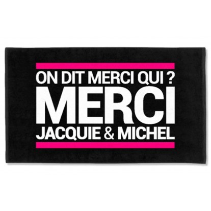 Serviette de plage Jacquie et Michel