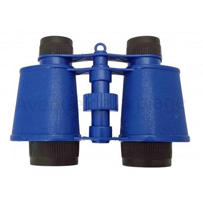 Jumelles en plastique pour enfant bleues.