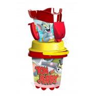 Seau de plage Tom et Jerry avec accessoires
