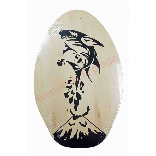 planche de skimboard bois naturel requin skim pas cher. Black Bedroom Furniture Sets. Home Design Ideas