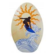 Planche de Skimboard bois naturel Surfeur 76 cm
