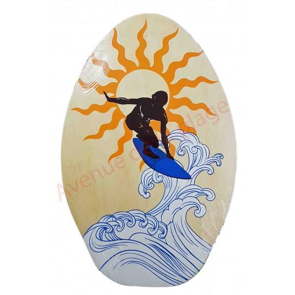 planche de skimboard bois naturel surfeur mat riel surf. Black Bedroom Furniture Sets. Home Design Ideas