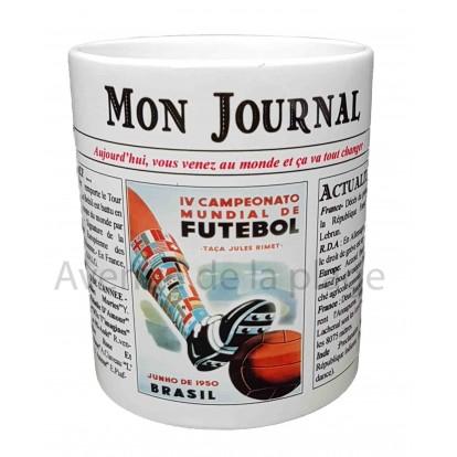 Mug Mon journal de naissance 1950