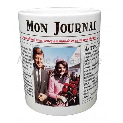 Mug Mon journal de naissance 1963