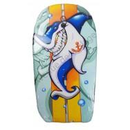 Bodyboard Requin tatoué d'une ancre