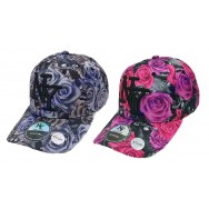 Casquette NY roses