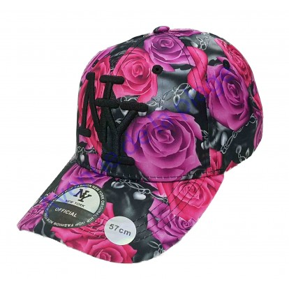 Casquette NY roses A