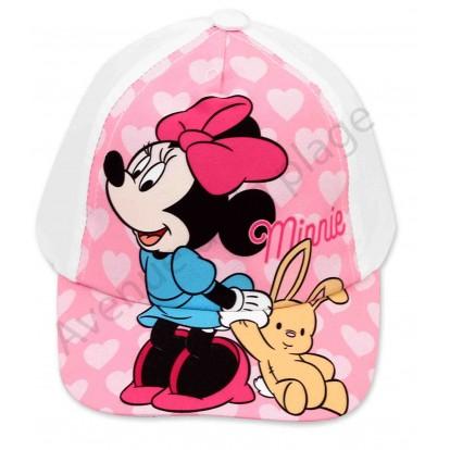 Disney Baby Casquette Minnie avec doudou, blanche.