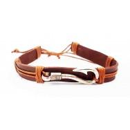 Bracelet Hameçon en cuir