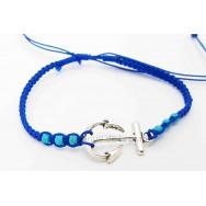 Bracelet tressé Ancre Marine