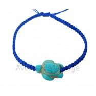Bracelet tressé Tortue de mer