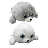 Peluche bébé phoque yeux brillants 40 cm