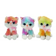 Peluche chaton aux yeux brillants