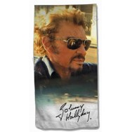 Serviette de plage Johnny Hallyday