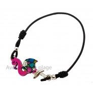 Bracelet Flamant rose élastique