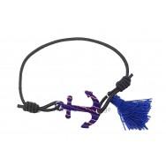 Bracelet Ancre marine et pompon