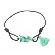 Bracelet chouette et pompon