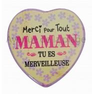 Magnet Coeur Maman Merveilleuse