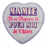Magnet Coeur Mamie je t'adore